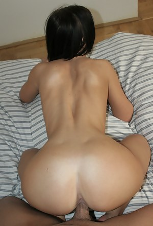 Lovely model having dark hair is feeling great being banged hard. Her partner's cock is big and thick, so she is getting satisfied.
