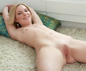 Ultra hot Nubile Koks strips off her jeans shorts and spreads her twat