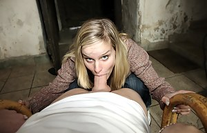 The snow makes her horny so they go inside to fuck hard