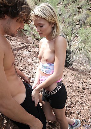 Innocent beautiful blonde gets her tight asshole fucked by a big dick