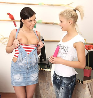 Two attractive horny lesbian hotties love kissing each other