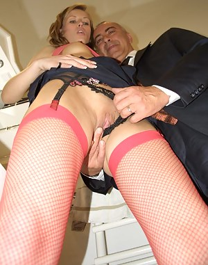 Skinny British streetslut stuffed by a senior office clerk