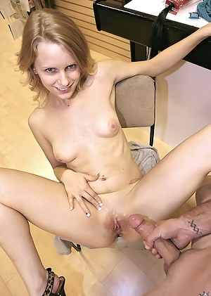 Wonderful babe seems to be smaller than her new lover's penis. She is going mad riding and sucking this strong aggregate with pleasure.