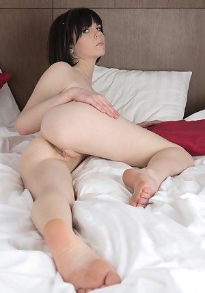 For seduction is often enough the feeling that model has not go far from natural look. Tiny ass, unshaven pussy, open call in eyes.