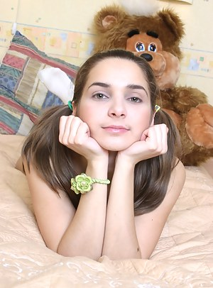 This alluring teen girl is probably the sweetest among all other teens on the web.