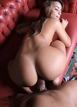 Lovely lady is taking off her jeans and having sex with her boyfriend. His cock is exactly the thing she is going really mad about.